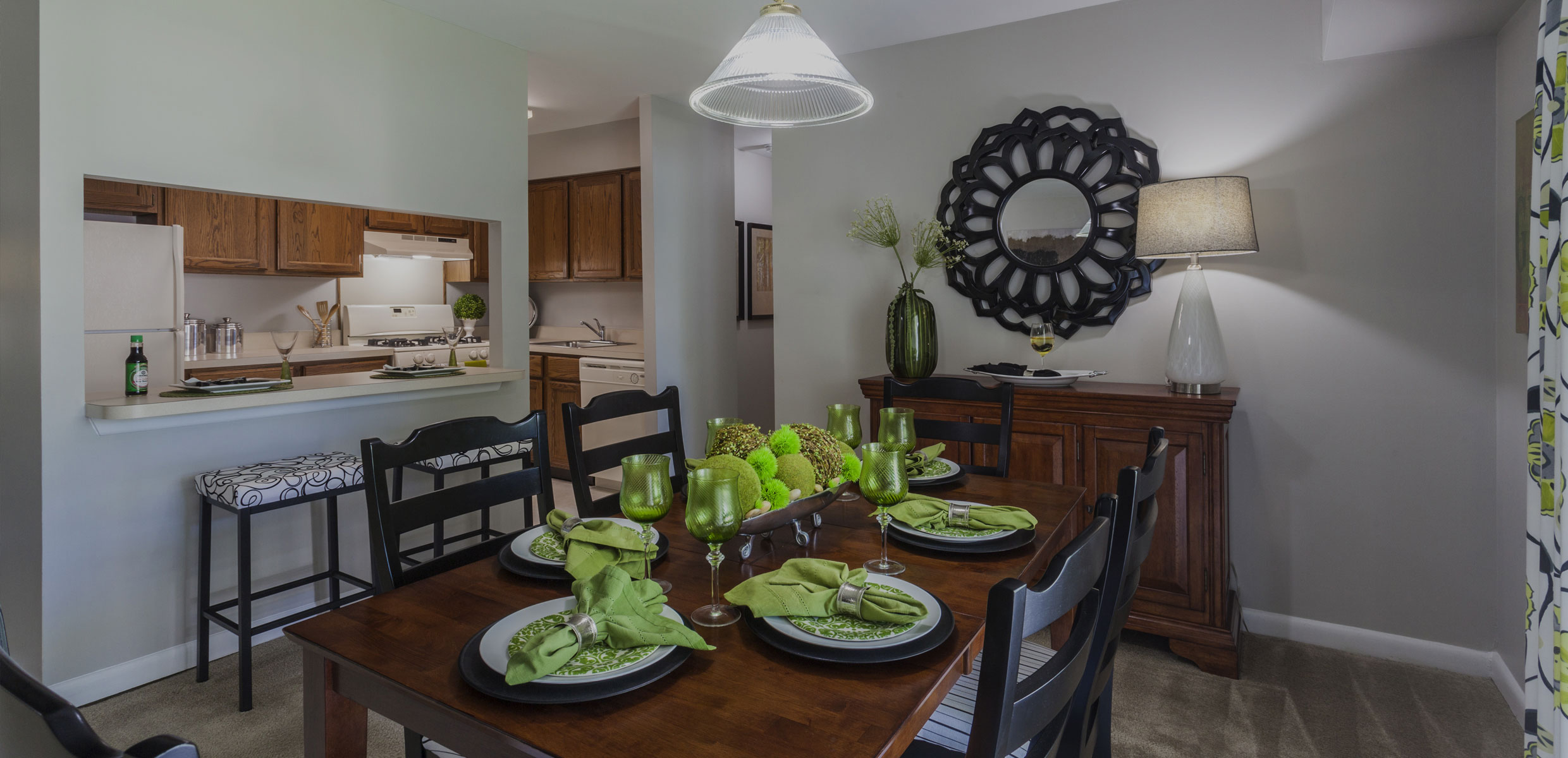 Dining Room in Mill Grove Apartment