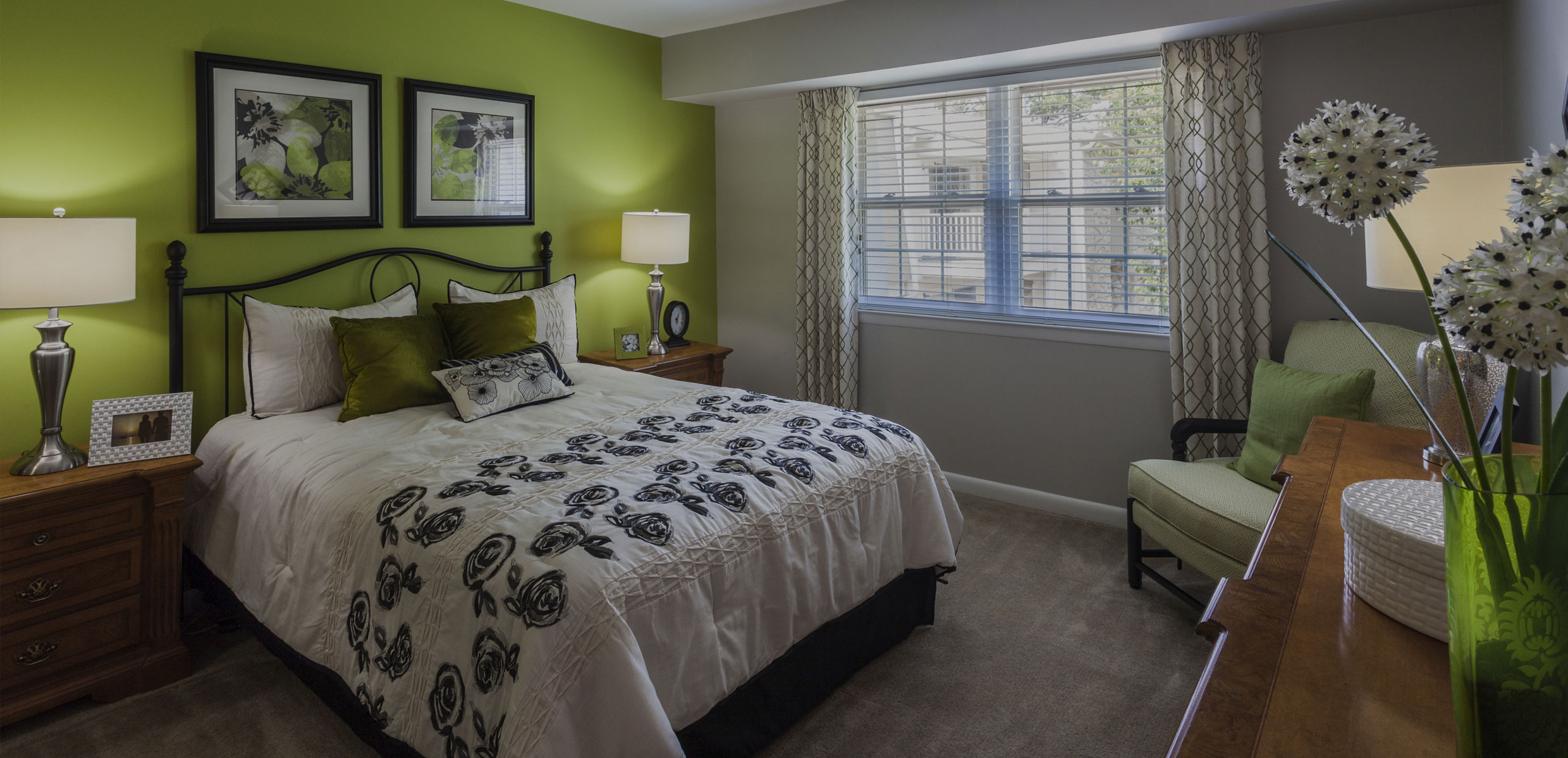 Bedroom in Mill Grove Apartment