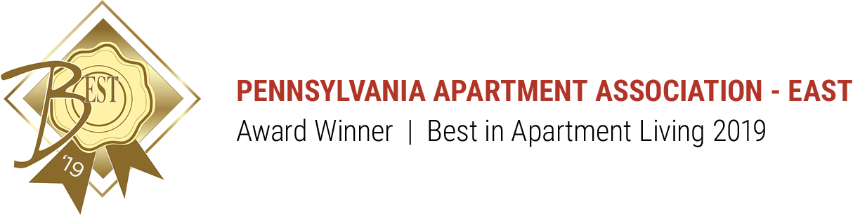 Pennsylvania Apartment Association - East Award Winner #1 Best Apartment Community 2019